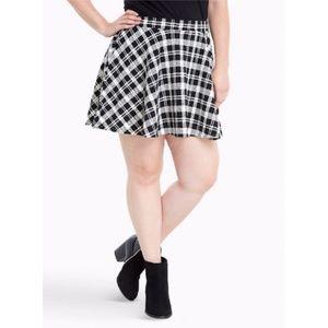 Torrid Double Knit Plaid Skater Skirt Plus Size
